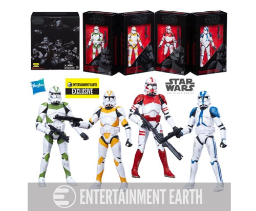 CLONE TROOPERS OF ORDER 66 4-PACK / ENTERTAINMENT EARTH EXCLUSIVE