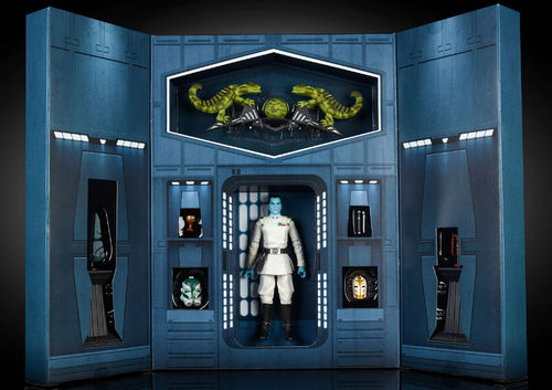 "GRAND ADMIRAL THRAWN + DISPLAY BOX 6"" / SDCC EXCLUSIVE"