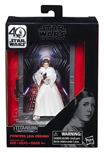 BLACK SERIES TITANIUM PRINCESS LEIA DIE-CAST 3,75""