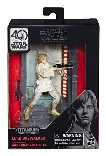 BLACK SERIES TITANIUM LUKE SKYWALKER DIE-CAST 3,75""