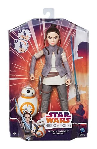 STAR WARS FORCES OF DESTINY - FIGURES & FRIENDS / REY + BB-8