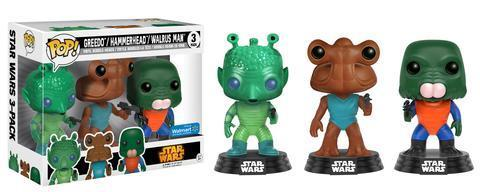 FUNKO POP ! STAR WARS CANTINA 3-PACK / WALMART EXCLUSIVE