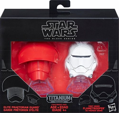 TITANIUM HELME PRETORIAN GUARD + FIRST ORDER FLAMETROOPER