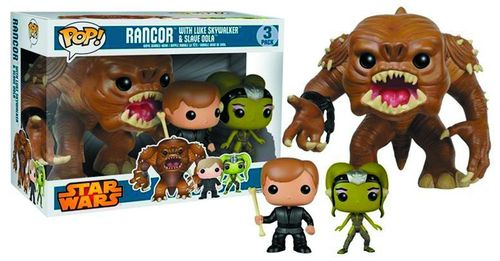 FUNKO POP STAR WARS RANCOR PIT 3-PACK (WITH LUKE & OOLA)