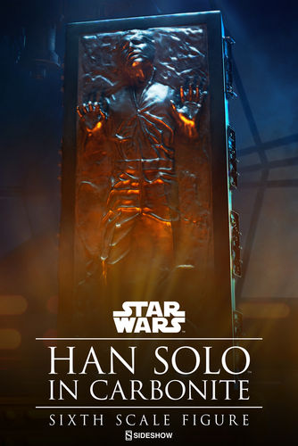 SIDESHOW HAN SOLO IN CARBONITE 1/6