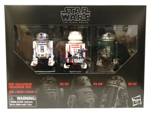 RED SQUADRON ASTROMECH 3-PACK / AMAZON USA EXCLUSIVE