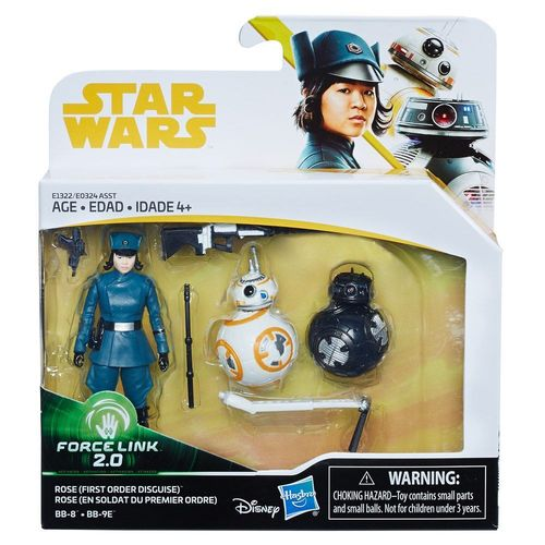 SOLO - A STAR WARS STORY -  ROSE + BB-8 + BB-9E 3-PACK / FORCE LINK 2.0
