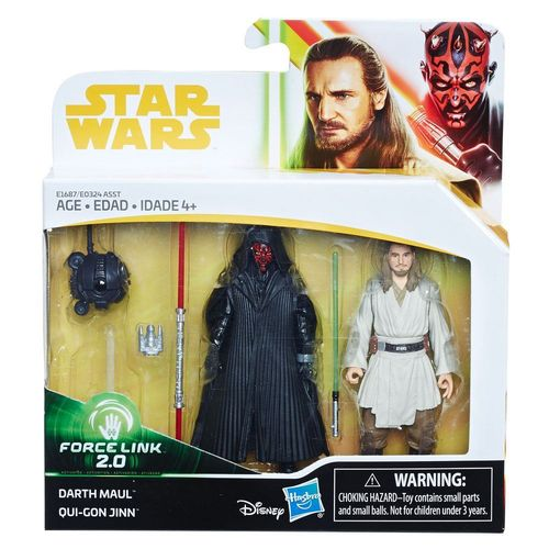 SOLO - A STAR WARS STORY -  DARTH MAUL + QUI-GON JINN 2-PACK / FORCE LINK 2.0