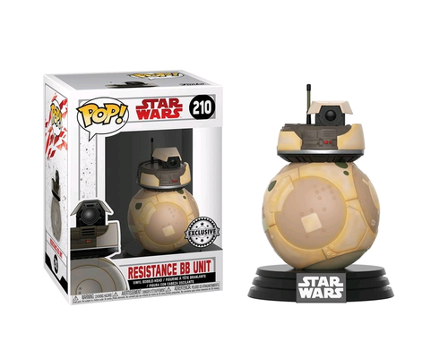 FUNKO POP STAR WARS THE LAST JEDI - RESISTANCE BB UNIT #210 / EXCLUSIVE