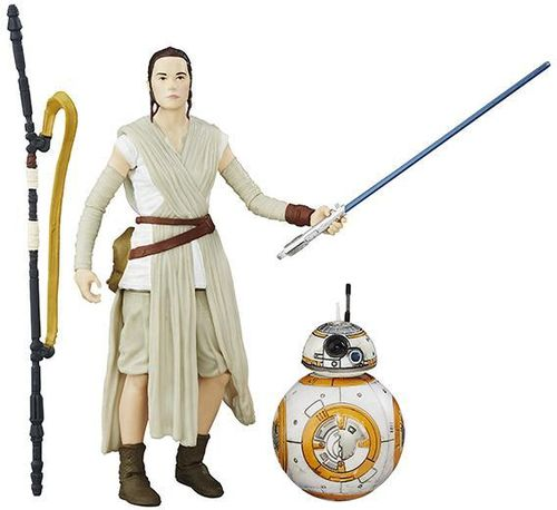 "REY (JAKKU) + BB-8 (LIGHTSABER VERSION) 6"" / LOOSE"