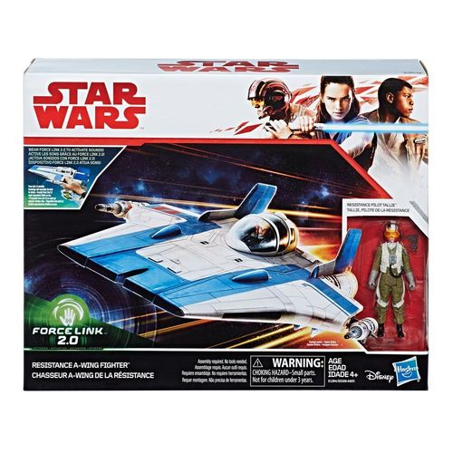"THE LAST JEDI - RESISTANCE A-WING FIGHTER + RESISTANCE PILOT TALLIE 3,75"" / FORCE LINK 2.0"