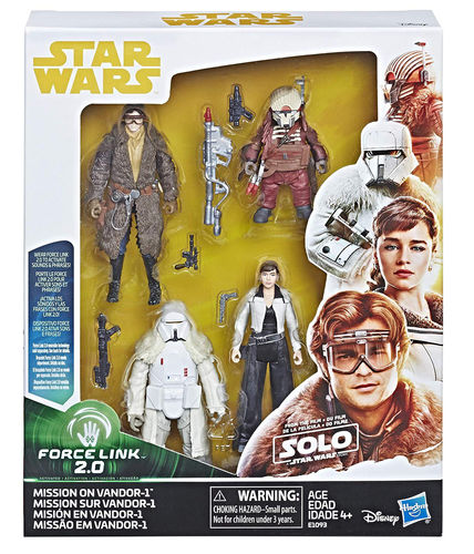 SOLO - A STAR WARS STORY - MISSION ON VANDOR 4-PACK / FORCE LINK 2.0