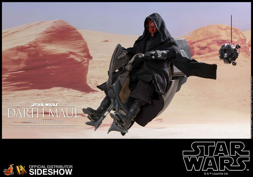 HOT TOYS STAR WARS DARTH MAUL WITH SITH SPEEDER / SIXTH SCALE DX17