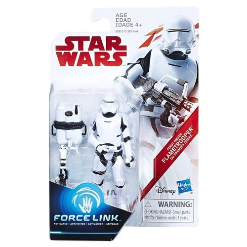 "THE LAST JEDI - FIRST ORDER FLAMETROOPER 3,75"" / TRU EXCLUSIVE / FORCE LINK"