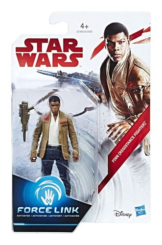 "THE LAST JEDI - FINN (RESISTANCE FIGHTER) 3,75"" / FORCE LINK"