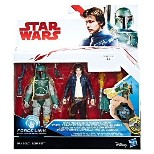 "THE LAST JEDI - HAN SOLO + BOBA FETT 2-PACK 3,75"" / FORCE LINK"