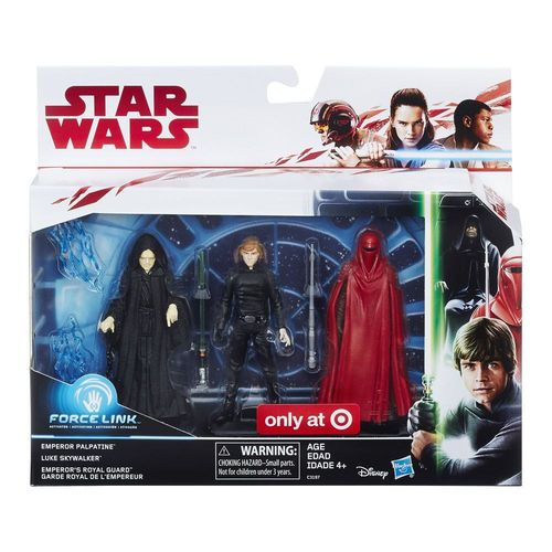 "THE LAST JEDI - RETURN OF THE JEDI 3-PACK 3,75"" / FORCE LINK / TARGET EXCLUSIVE"