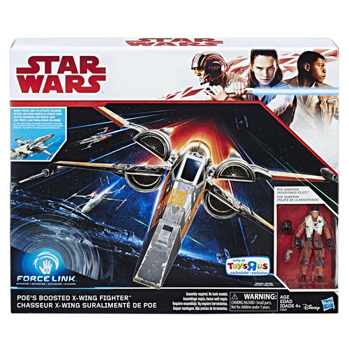 "THE LAST JEDI - POE'S X-WING FIGHTER + POE DAMERON 3,75"" / FORCE LINK / TRU USA EXCLUSIVE"