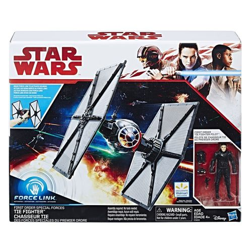 "THE LAST JEDI - FIRST ORDER SPECIAL FORCES TIE FIGHTER + TIE FIGHTER PILOT 3,75"" / FORCE LINK"