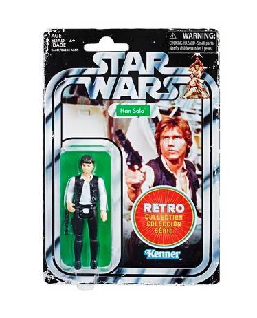 "STAR WARS RETRO COLLECTION HAN SOLO 3,75"" / TARGET EXCLUSIVE"