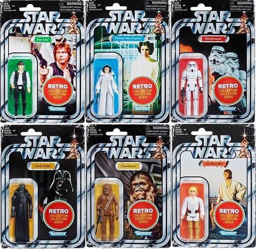 STAR WARS RETRO COLLECTION WAVE 1 / KOMPLETT / TARGET EXCLUSIVE