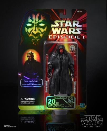 BLACK SERIES EPISODE I 20th ANNIVERSARY DARTH MAUL / CELEBRATION EXCLUSIVE