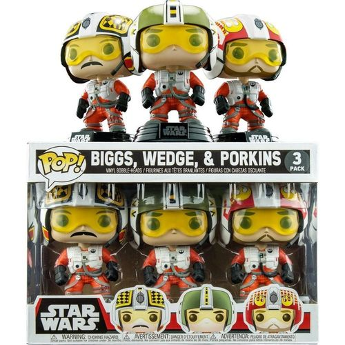 FUNKO POP STAR WARS BIGGS, WEDGE & PORKINS PILOT 3-PACK