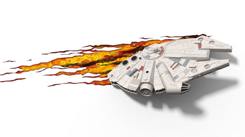 STAR WARS MILLENNIUM FALCON 3D DECO LIGHT + WALL STICKER / 38 CM