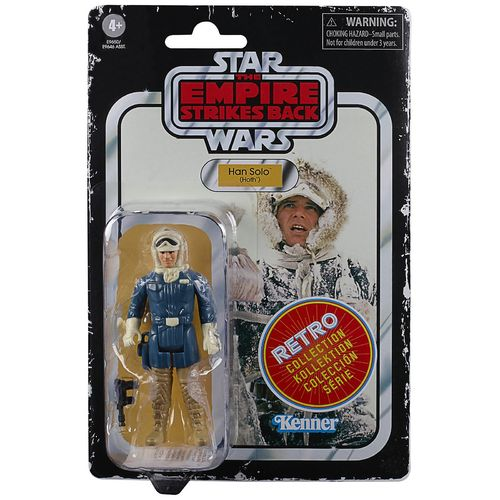 "STAR WARS RETRO COLLECTION HAN SOLO (HOTH) (ESB) 3,75"" / TARGET EXCLUSIVE"