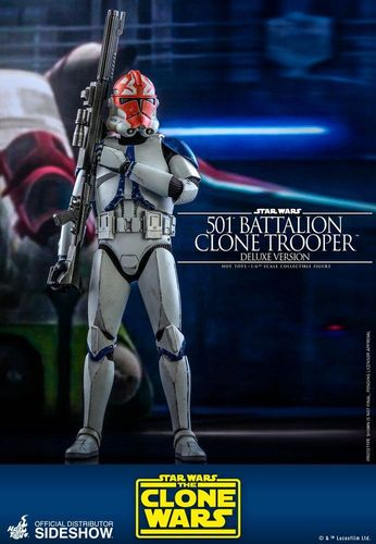 HOT TOYS STAR WARS 501st BATTALION CLONE TROOPER (THE CLONE WARS) DELUXE 1/6  TMS023