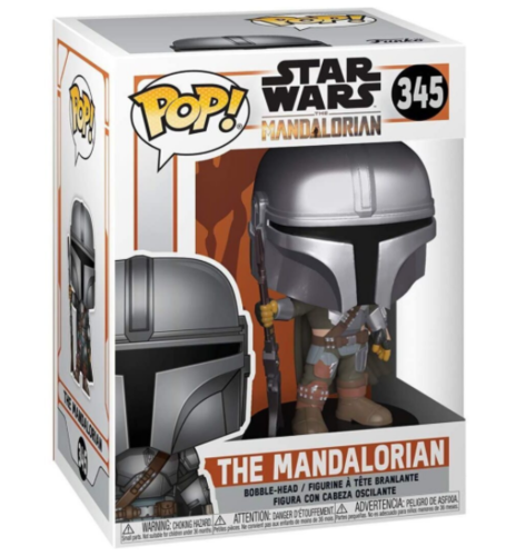 FUNKO POP STAR WARS THE MANDALORIAN - THE MANDALORIAN (BESKAR ARMOR) #345